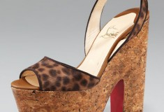 Look what's back: the Christian Louboutin Super Dombasle Platform Sandal -- now in leopard-print!