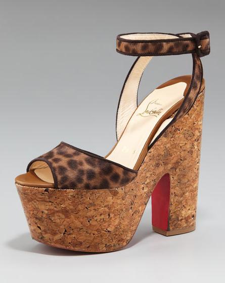 Christian Louboutin Super Dombasle Platform Sandal now in Leopard-print