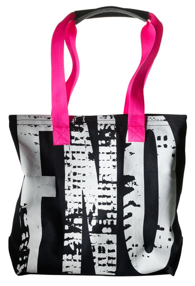 FNO tote in navy & pink