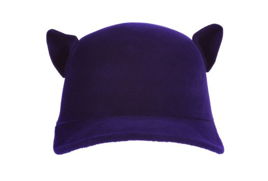 Givenchy-Wool-'Cat'-Hat-in-aubergine