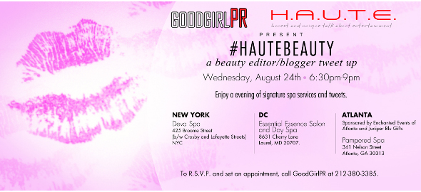 HAUTEBEAUTY Blogger Tweet Up