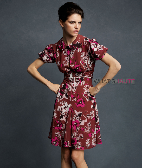 Karl Lagerfeld for Impulse only at Macy's Textured Floral Dress $109