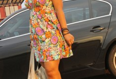 My Style: Jill Scott at Jones Beach (Victoria's Secret floral sweetheart dress + MRKT cork sandals + Beirn bag)