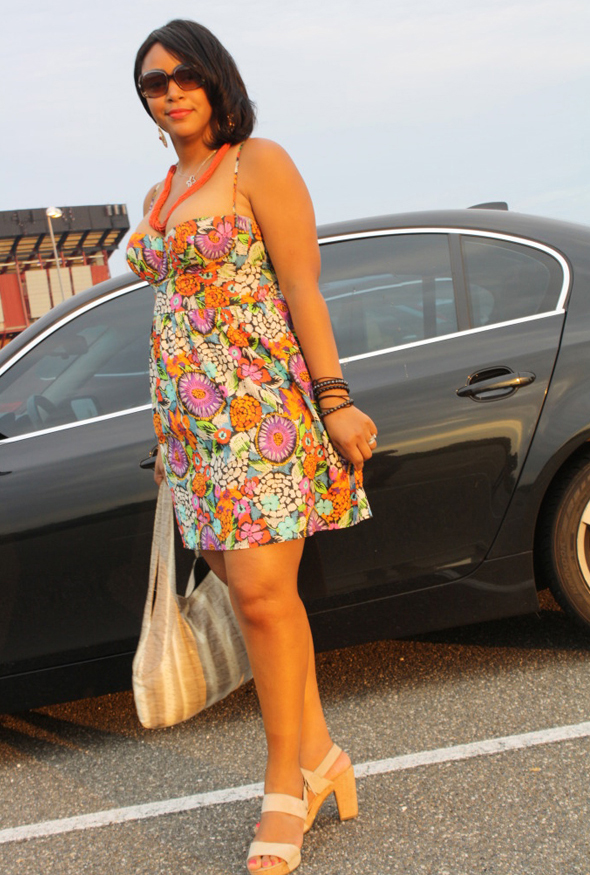 My Style Jill Scott At Jones Beach Victoria S Secret Fl Sweetheart Dress Mrkt Cork