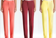 Haute pants: Rachel Roy Crepe Colored Trousers