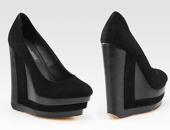 Rachel Zoe Eva Suede Wedges platform shoes
