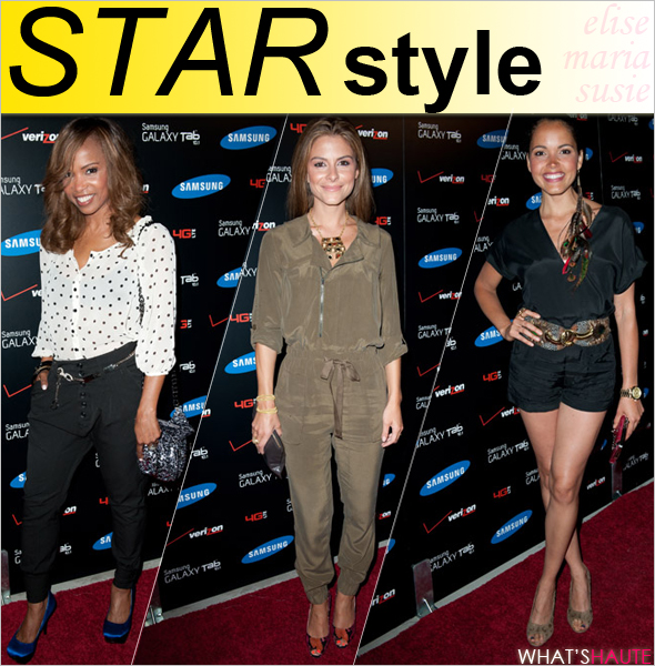 Star style - Elise Neal Maria Menounos Susie Castillo at the Samsung Galaxy Tab 10.1 launch party at The Beverly
