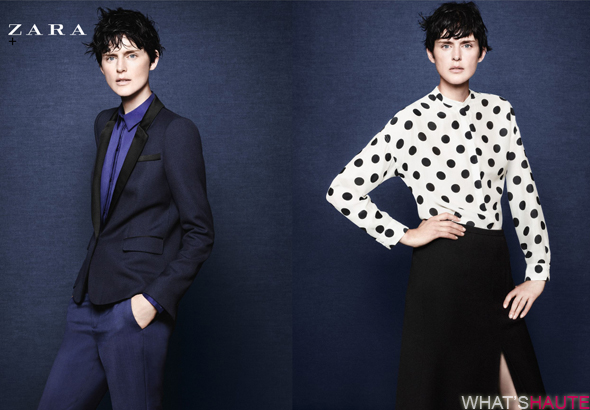 Zara-Fall-Winter-2011-campaign-looks-7-and-8 polka dot blouse