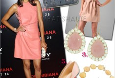 Get her haute look: Zoe Saldana in Valentino, Ferragamo and Christian Louboutin at the