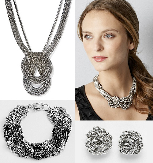 knotted chain jewelry necklaces earrings bracelets