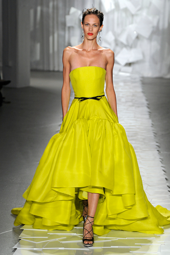 Jason Wu Spring 2012 electric yellow gown