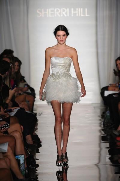 Kendall Jenner Walks the Runway at Sherri Hill Fashion Show
