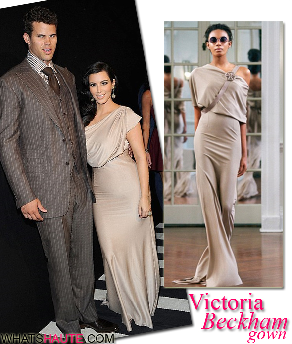 Kim Kardashian wears Victoria Beckham Fall 2010 gown to her New York ...