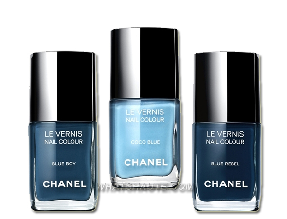 LES JEANS DE CHANEL blue denim limited-edition nail polish collection what's haute