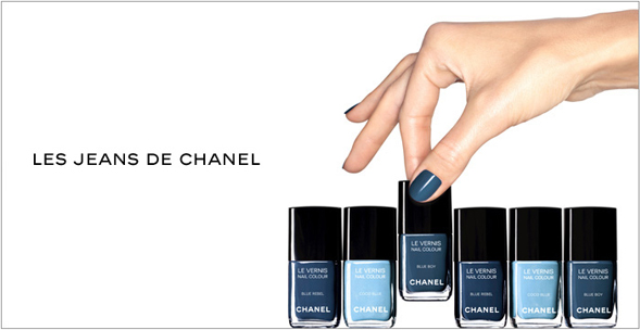 Something blue: Les Jeans de Chanel limited-edition nail polish ...