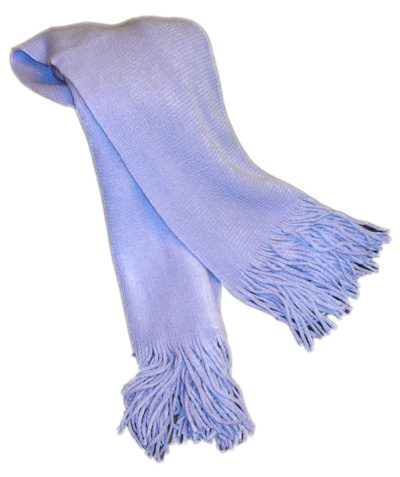 Light of Life purple scarf for Thyroid Cancer awareness month