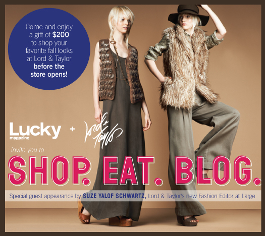 Lucky + Lord & Taylor Shop Eat Blog event what's haute