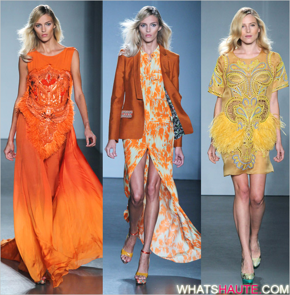 Trend report  Color clash at London Fashion Week Spring Summer 2012 ... b8e1229fdd966