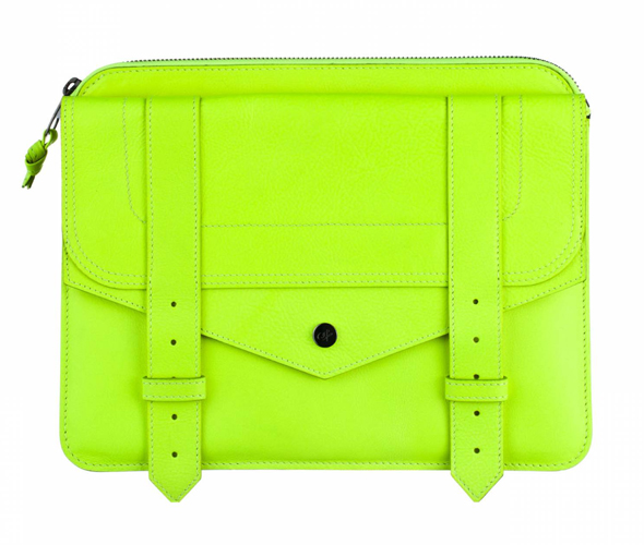 Proenza-Schouler-iPad-case-in-Sulphur-neon-green what's haute