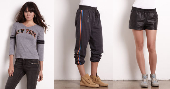 Rachel-Rachel-Roy---LTD.-Edition-Amar'e-+-Rachel-Warm-up-Pant-Leather-shorts-New-York-Long-Sleeve-Tee
