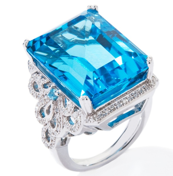 Ramona-Singer-27.39ct-Blue-Topaz-and-Diamond-Sterling-Silver-Emerald-Cut-Ring