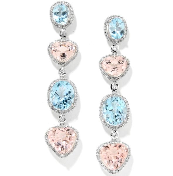 Ramona-Singer-29.25ct-Morganite,-Sky-Blue-Topaz-and-Diamond-Sterling-Silver-Drop-Earrings