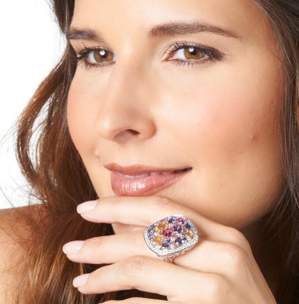 Ramona-Singer-5.92ct-Multigemstone-Openwork-Cluster-Sterling-Silver-Ring what's haute