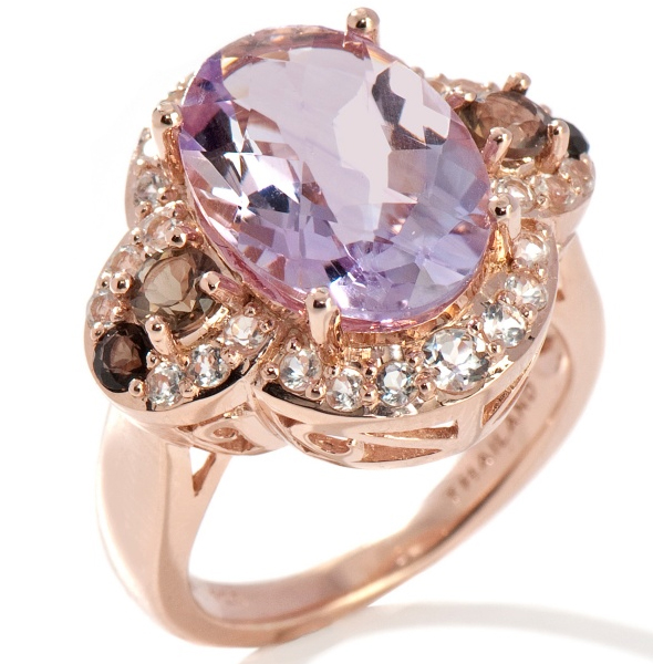 Ramona-Singer-6.12ct-Pink-Amethyst-and-Gemstone-Rose-Vermeil-Ring what's haute
