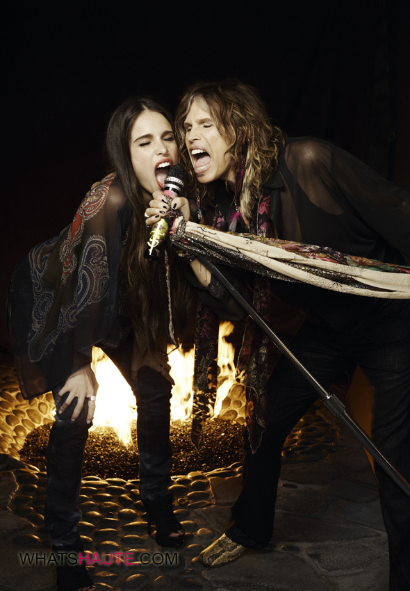 Rock Icon Steven Tyler And Daughter Chelsea Are The New Faces Of Andrew Charles By Andy Hilfiger What S Haute