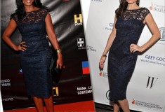 Who rocked it hotter: Kara DioGuardi vs. Garcelle Beauvais in the Maggy London Scoop Back Lace Dress