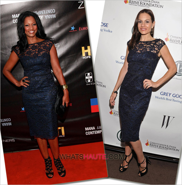 Who-rocked-it-hotter-Kara-DioGuardi-vs.-Garcelle-Beauvais-in-navy-blue-Maggy-London-Scoop-Back-Lace-Dress who wore it better what's haute