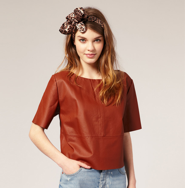ASOS-Cropped-Leather-T-Shirt