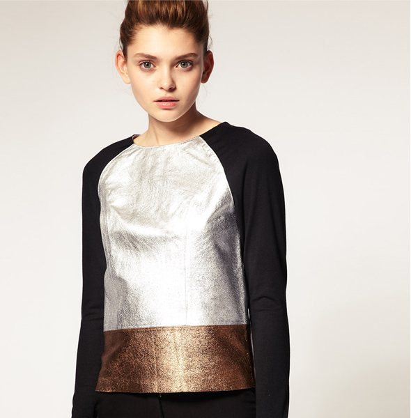 ASOS-Premium-Silver-Metallic-Leather-Top
