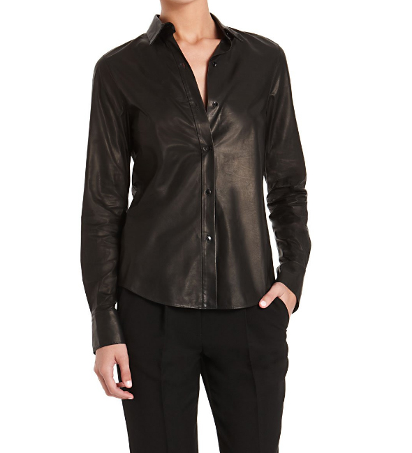 Alexander-Wang-leather-button-down-shirt