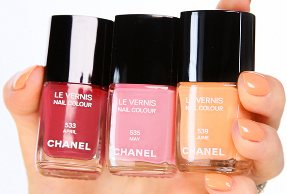 Chanel April May June Spring 2012 nail polish garnet red pink tangerine orange apricot
