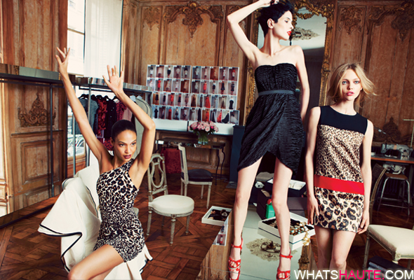 Giambattista-Valli-for-Impulse-only-at-Macy's-Leopard-One-Shoulder-Dress-$109-Black-Dress-$109-Leopard-Shift-Dress-$109 Sasha Pivovarova, Joan Smalls, Hanaa Ben Abdesslem what's haute