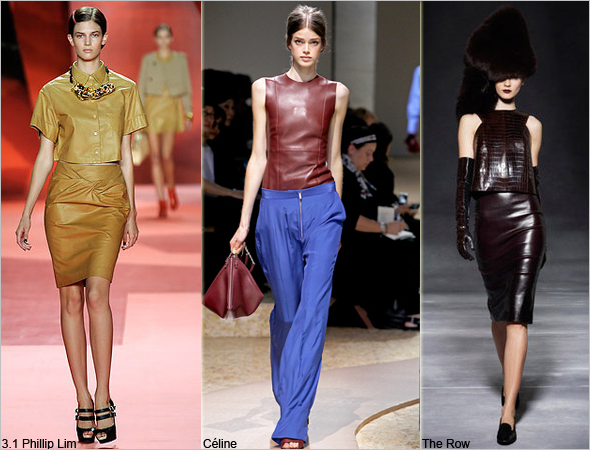 Haute-fashion trend-leather-shirts-and-tops-3.1-Phillip-Lim-Céline-The-Row-runway Fall 2011