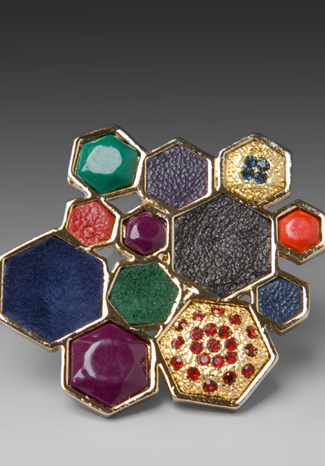 Haute buy: House of Harlow by Nicole Richie Mixed Media Large Cluster Ring close up