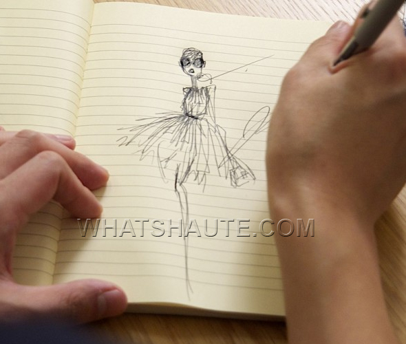 Jason-Wu-for-Target-sketches-on-yellow-legal-pad-what's-haute