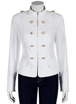 Lafayette 148 New York White Military Jacket what's haute