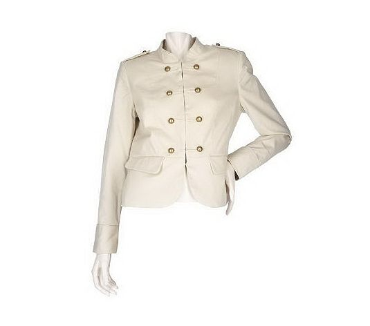 White Military Style Jacket White Military Jacket