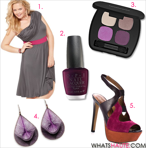 Maternity-style-what's-haute Soprano Plus Size Dress, One Shoulder Ruched Empire Jessica Simpson Shoes, Bendie Platform Pumps bareMinerals READY Eyeshadow 4.0 OPI Black Cherry Chutney nail polish Peruvian thread earrings