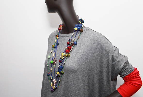 Nicole-Miller-x-Indego-Africa-beaded-fabric-wrapped-necklace