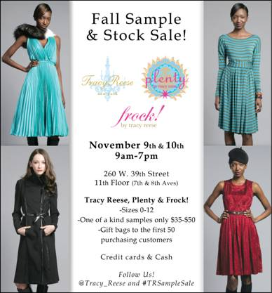 Sample sale alert Tracy Reese, Plenty and Frock