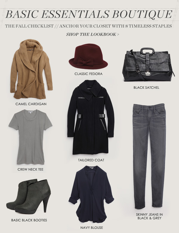 The Elements of Style - 8 Basic Essentials for Every Wardrobe on shopbop
