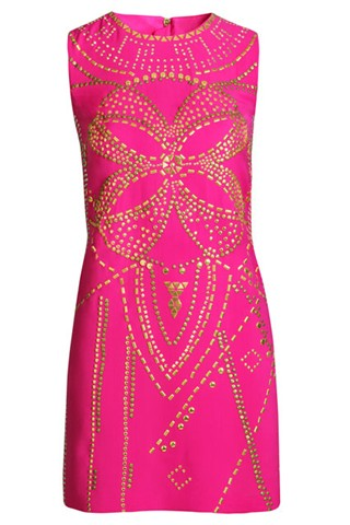 Versace for H&M - beaded pink silk dress
