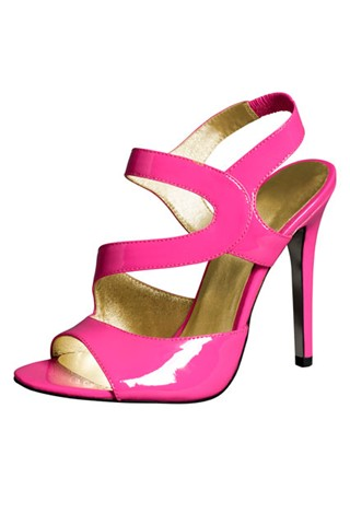 Versace for H&M - pink leather strap sandals