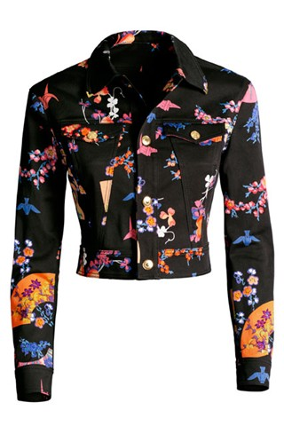 Versace for H&M - printed denim jacket