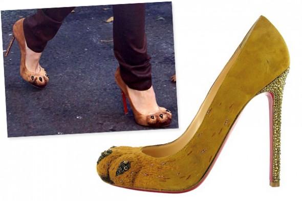 Christian Louboutin Alex lion paw shoes as seen on Blake Lively