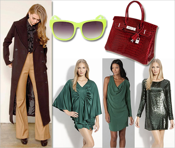 Weekly Shopping and Goodies Haute Hippie Stretch Charmeuse Tunic Dress One Sleeve Dress Sequin Dress Hermès Diamond Birkin bag Matthew Williamson neon yellow sunglasses winter coats